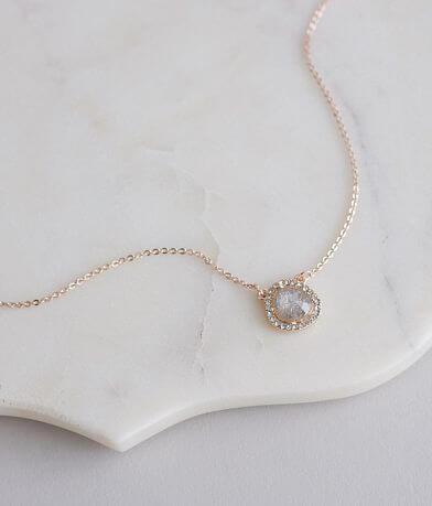 BKE Dainty Stone Glitz Necklace