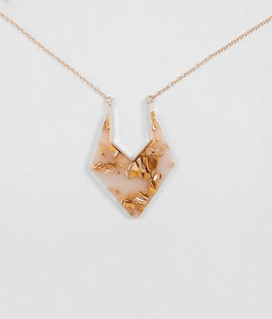 BKE Resin Cut-Out Necklace