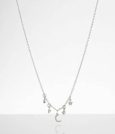 BKE Dainty Moon & Star Necklace