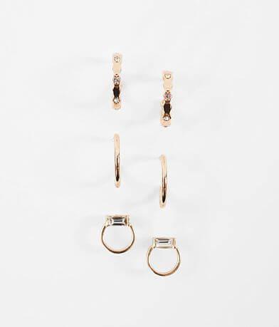 BKE Gold Trio Earring Set