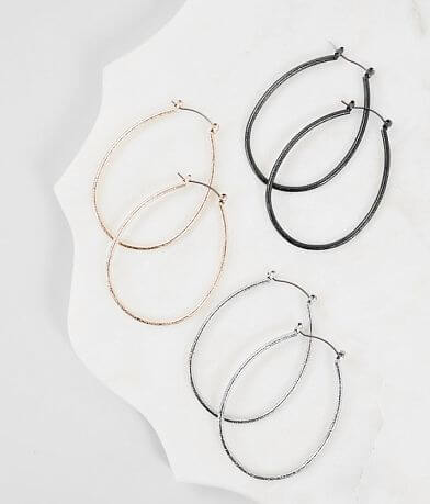 BKE Hoop Earring Trio Set
