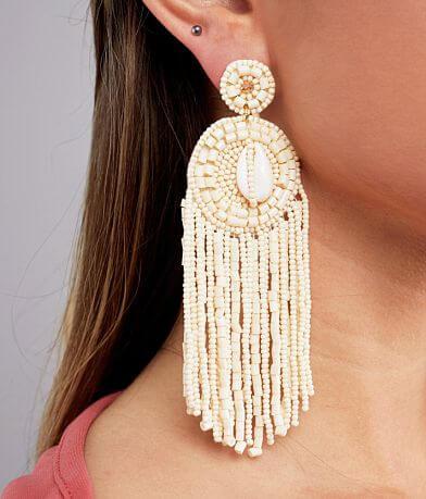 BKE Puka Shell Fringe Earring