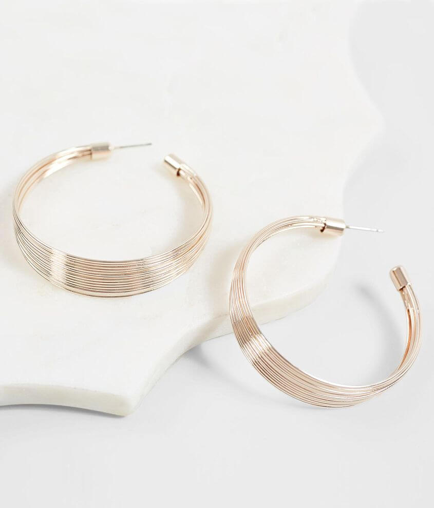 BKE Layered Hoop Earring front view