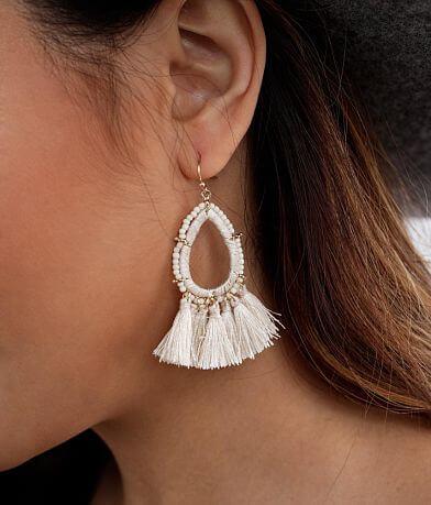 BKE Beaded Tassel Earring