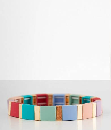 BKE Square Beaded Stretch Bracelet