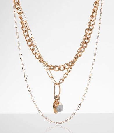 BKE Chain Link Tiered Necklace