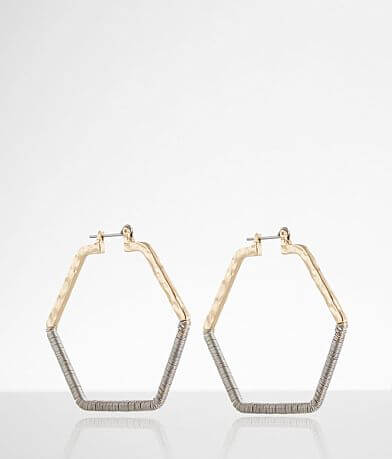 BKE Hexagon Hoop Earring