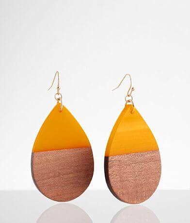 BKE Wood & Resin Drop Earring