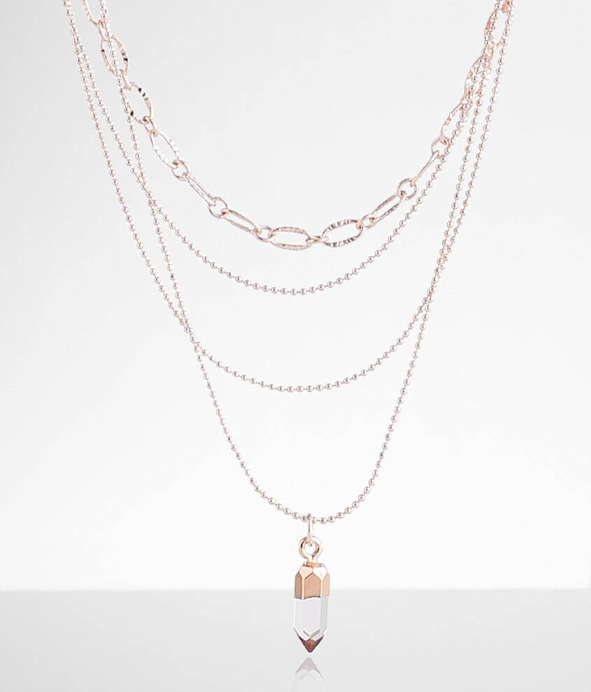 BKE Multi Strand Tiered Necklace front view