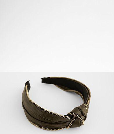 Zipper Trim Headband