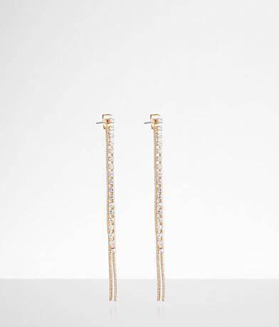 BKE Rhinestone Linear Earring