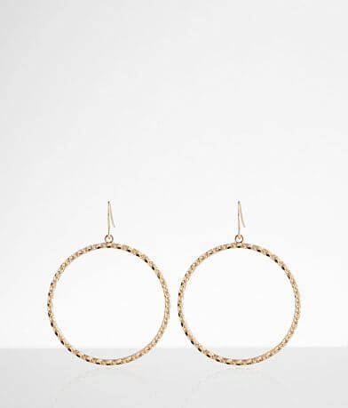 BKE Textured Hoop Earring