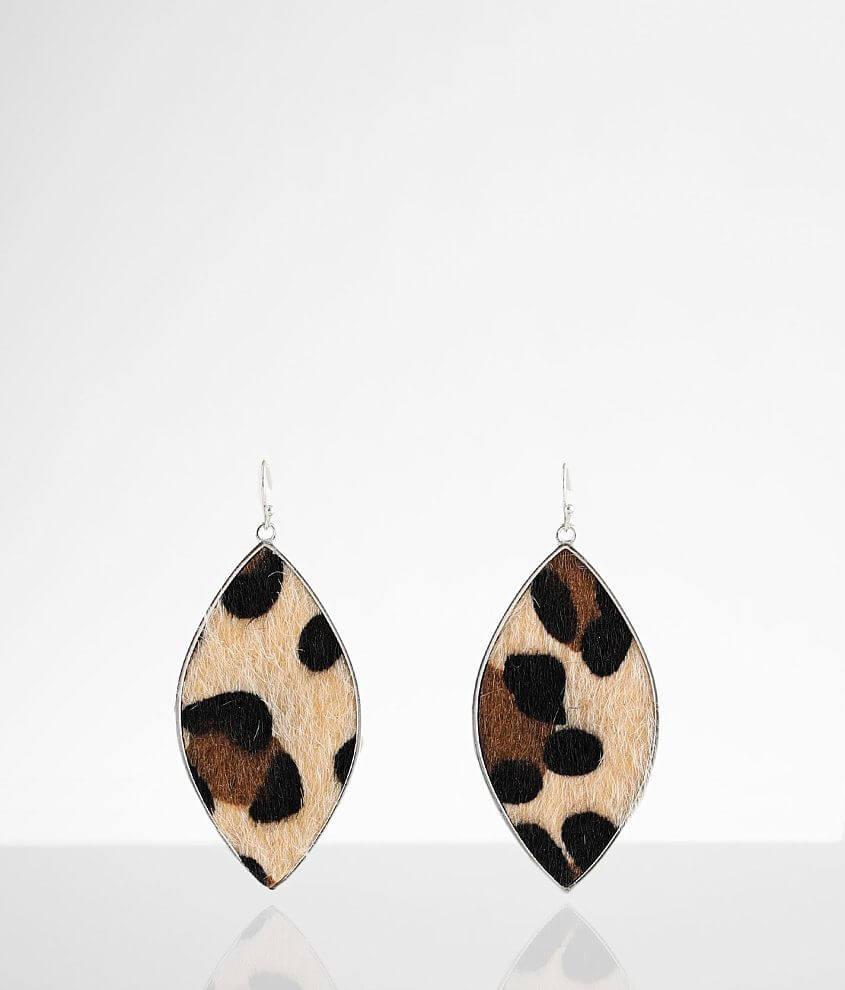 BKE Leopard Drop Earring front view