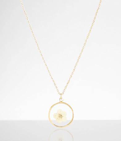 BKE Pressed Flower Necklace