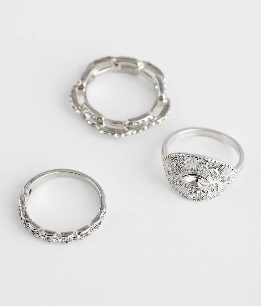 BKE 3 Pack Glitz Ring Set front view
