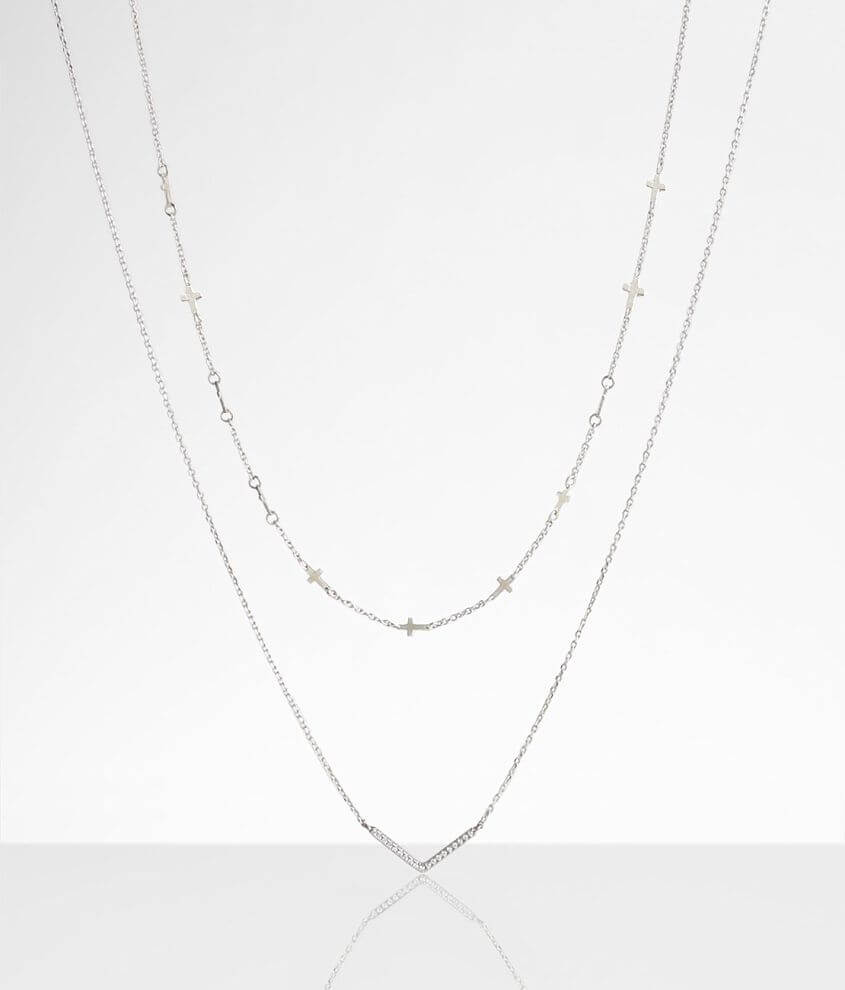 BKE 2 Pack Dainty Necklace Set front view