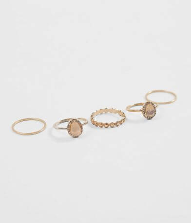 BKE Glitz & Stone Ring Set