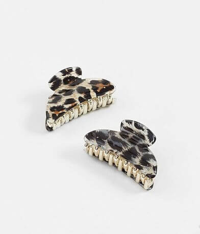 BKE 2 Pack Leopard Hair Clips