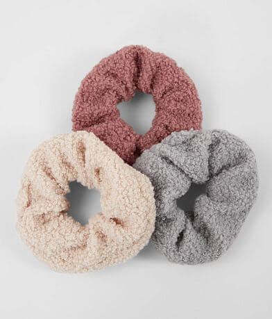 Teddy 3 Pack Hair Scrunchies