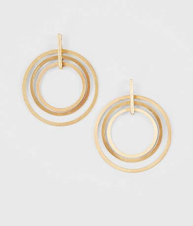 BKE Layered Circle Earring