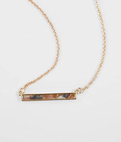 BKE Resin Bar Necklace