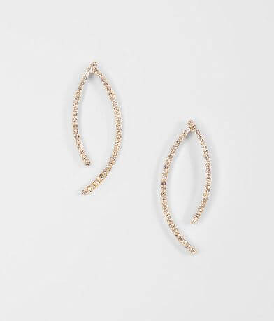 BKE Curved Glitz Earring