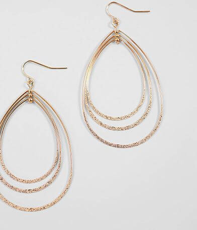 BKE Layered Oblong Hoop Earring