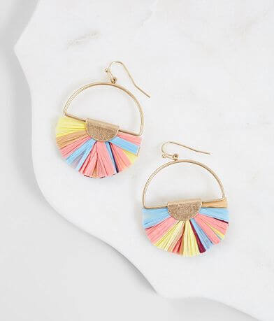 BKE Raffia Statement Earring