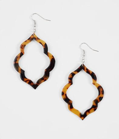 BKE Resin Cut-Out Earrings