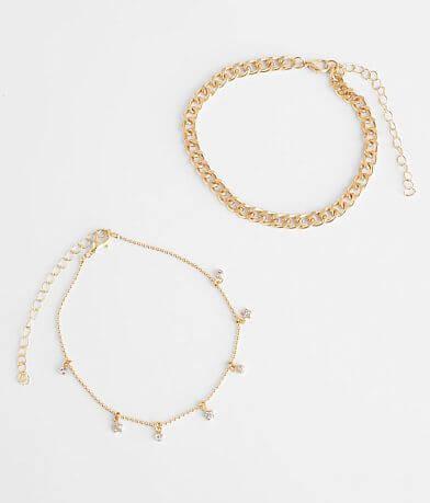 BKE 2 Pack Star Ankle Bracelet Set