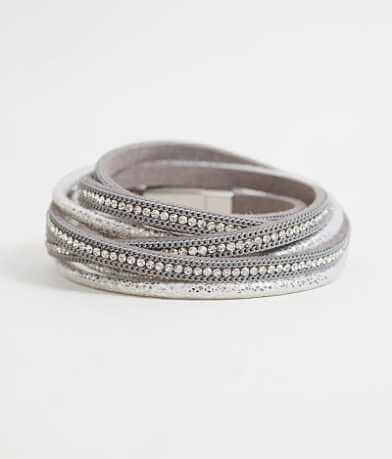 BKE Metallic Wrap Bracelet