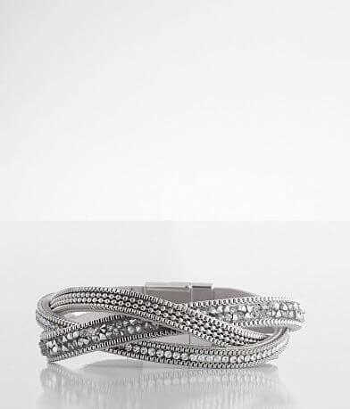 BKE Twisted Rhinestone Bracelet