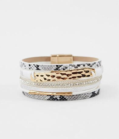 BKE Mixed Print Layered Bracelet