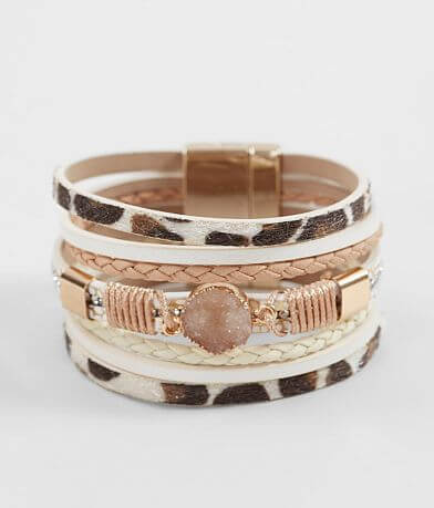 BKE Druzy Stone Bracelet