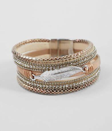 BKE Feather Glitz Bracelet