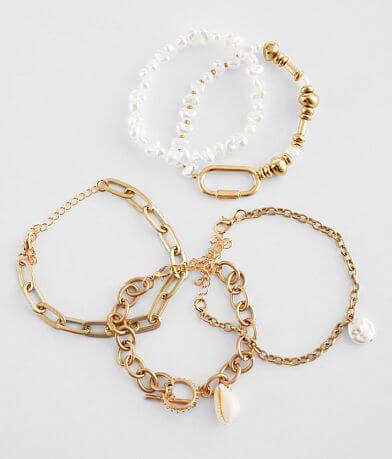 BKE Shell and Bead Bracelet Set