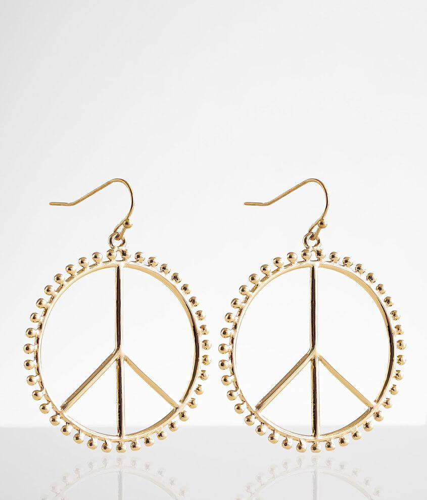 BKE Peace Sign Earring front view