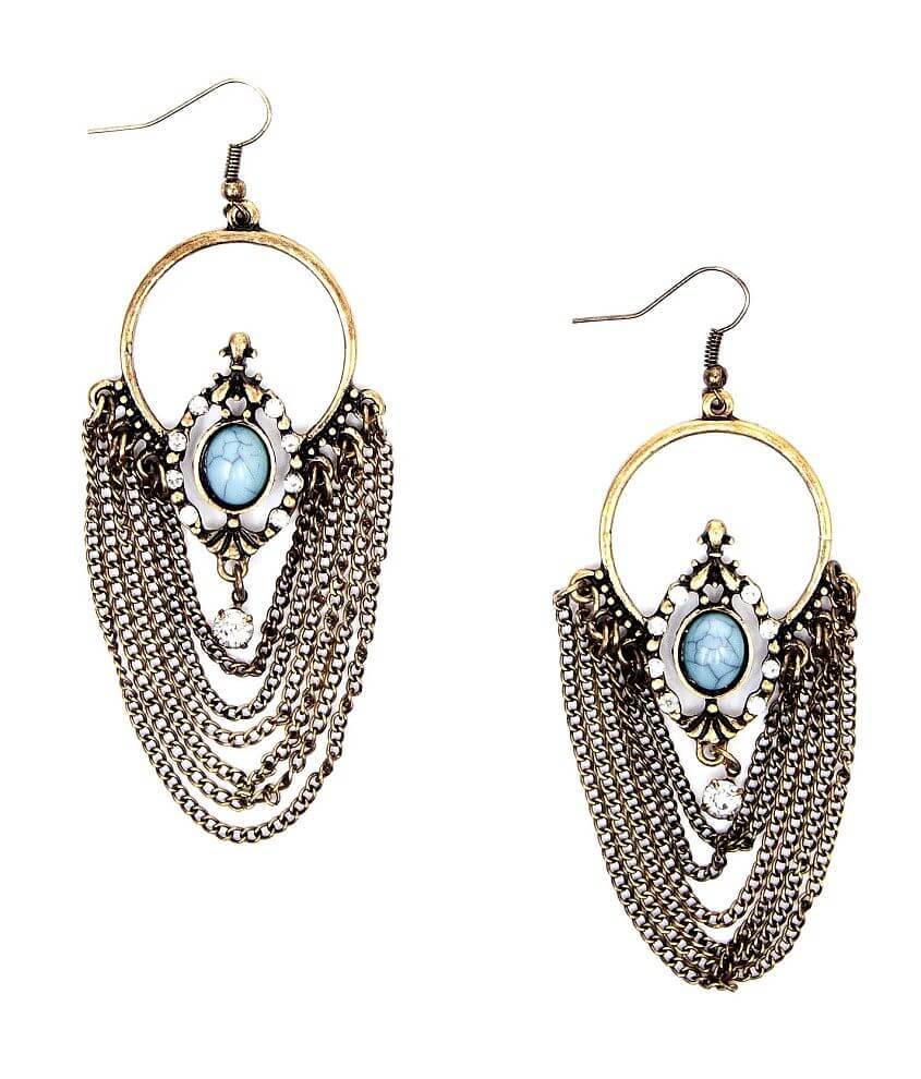 BKE Layered Chain Earring front view