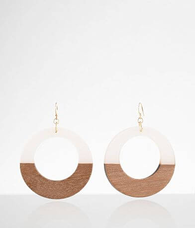 BKE Resin & Wood Earring