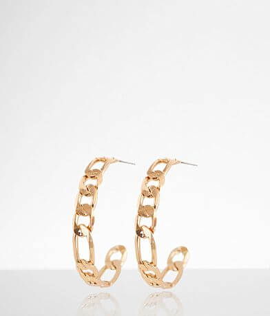 BKE Chain Link Hoop Earring