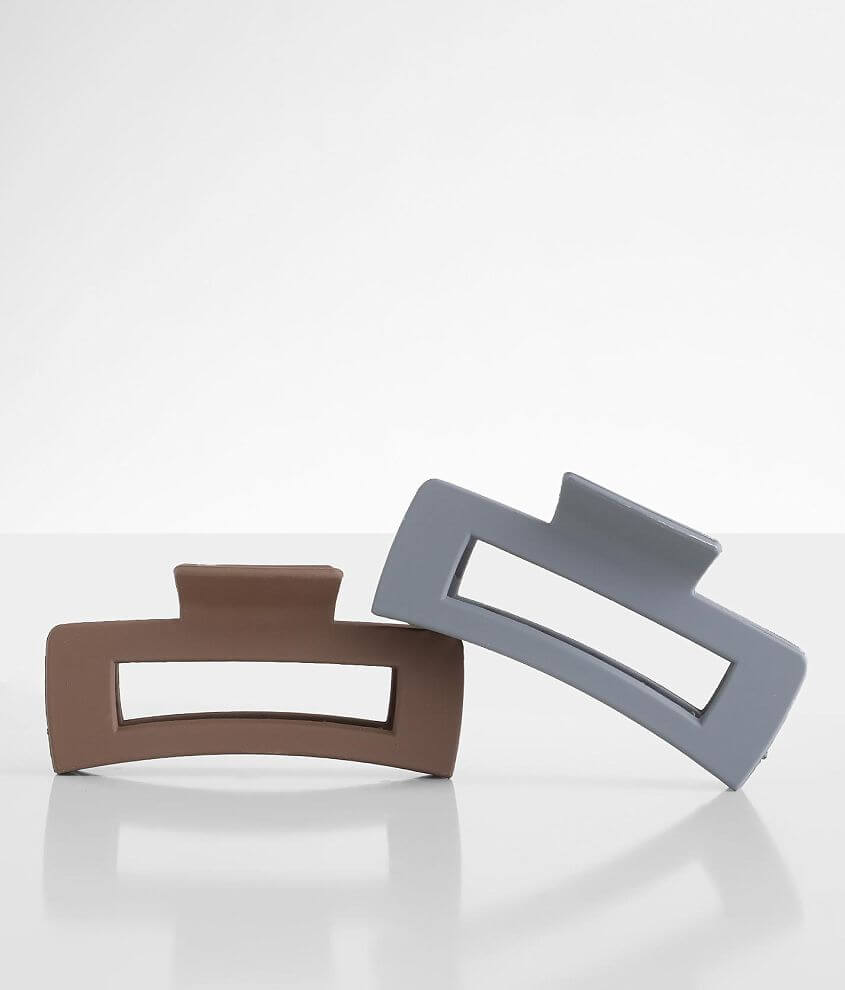 BKE 2 Pack Claw Hair Clip Set front view