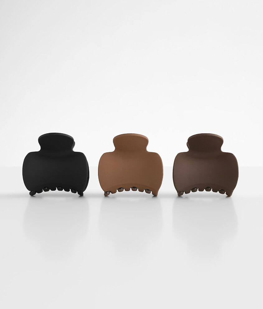 BKE 3 Pack Hair Claw Clip Set front view