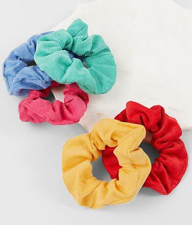 BKE 5 Pack Corduroy Hair Scrunchies
