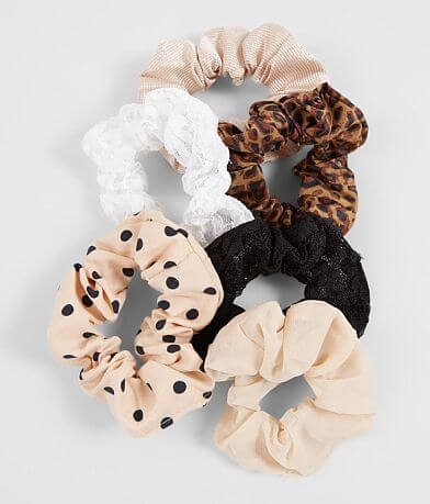 6 Pack Assorted Hair Scrunchies