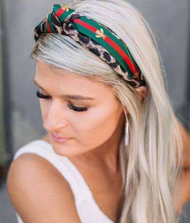Knotted Cheetah Print Headband