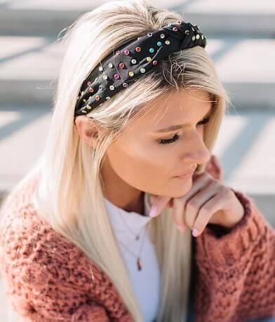 Studded Gem Headband