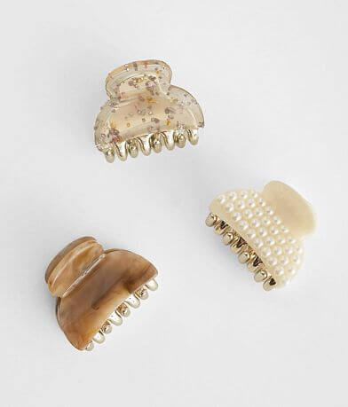 Assorted 3 Pack Hair Clips