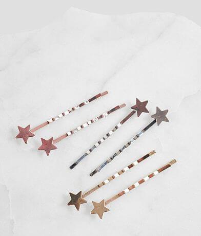 6 Pack Star Bobby Pins