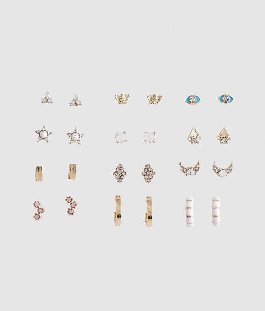 BKE 12 Pack Assorted Earring Set front view