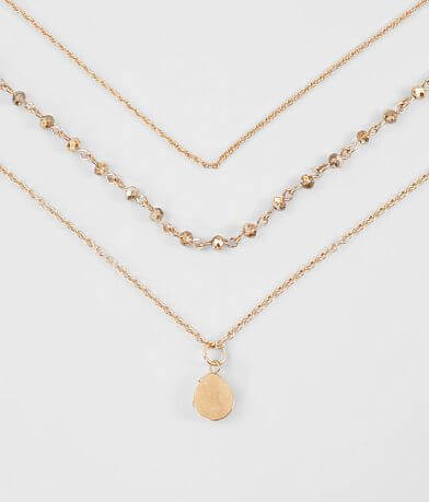 BKE Dainty Druzy Necklace Set